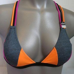 Victoria's Secret PINK Grey Orange Strappy Triangl